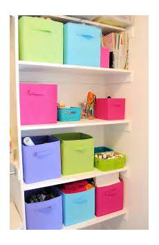 organizing craft supplies in small spaces