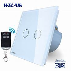 welaik glass panel switch white wall switch eu remote control touch switch light switch