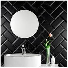 bildergebnis f 252 r black metro tiles bathroom badezimmer