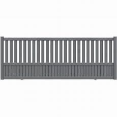 portail coulissant leroy merlin 5m portail coulissant aluminium penmarch gris naterial h 135