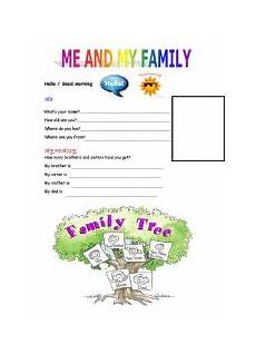english worksheets me and my family