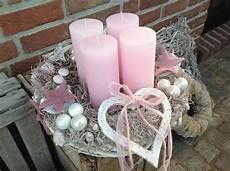 rosa adventskranz merry