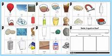 solid liquid and gases ks2 sorting activity science resource