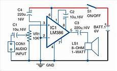 Lm386 Based Audio Lifier Electronics Audio