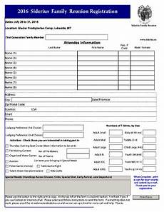 family reunion registration form template free edit print fill out download online forms