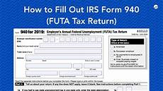 how to fill out irs form 940 futa tax return youtube