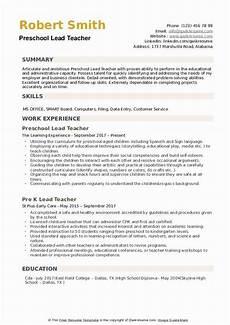 resume sles for nursery teachers 23 preschool teacher resume exles in 2020 preschool