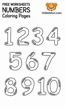 Malvorlagen Vorschule App Free Printable Number Coloring Pages 1 10 For In
