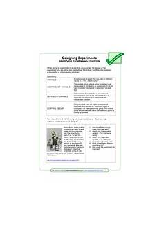 designing experiments worksheet designing experiments worksheet teaching resources