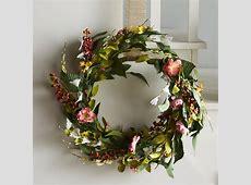 "National Tree Co. 22"" Spring Flower Wreath & Reviews   Wayfair"