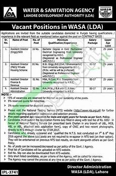 nts wasa 2017 for assistant director apply last date criteria
