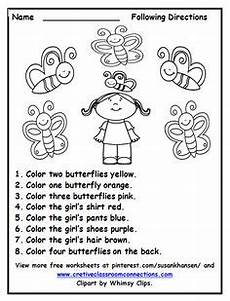 following directions worksheets grade 4 11700 color word yellow clipart black and white clipground