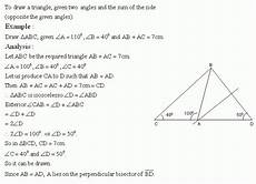 construction of triangle high school mathematics kwiznet math science english homeschool