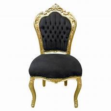 chaise baroque noir chaise de style baroque rococo tissu velours noir et bois dor 233