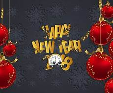 luxury elegant merry christmas and happy new year 2018 poster frame and christmas balls