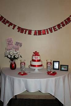 Home Decor Ideas For Anniversary by 40 Best 40th Anniversary Ideas Images On