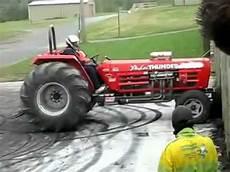 slicks garage lawn mower v8 tractor burnout