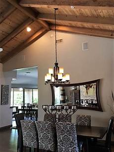 hanging rectangular chandelier with 2 wires sloped ceiling