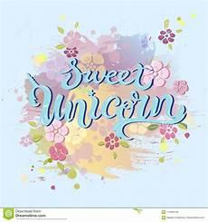 Unicorn Malvorlagen Kostenlos Text Unicorn Birthday Text Lokalisiert Auf Pastell Farbigem