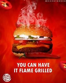Burger King Werbung - burger king advertisement food poster design food