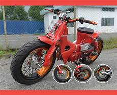 Modifikasi Honda C70 Chopper by Honda C70 Modifikasi Bobber Reviewmotors Co