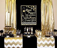 gold and black bridal shower bachelorette gold bridal