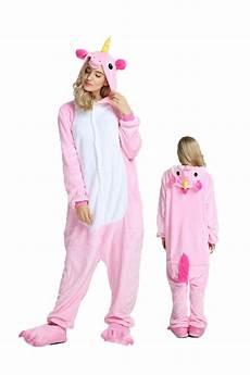 pink unicorn kigurumi onesie pajamas soft flannel unisex