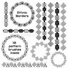 Indianische Muster Malvorlagen Text Ethnisches Indianisches Stammes Muster Vektor Abbildung