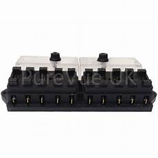 12 volt fuse box and cover new 10 way universal standard 12v 12 volt atc blade fuse box cover tractor ebay