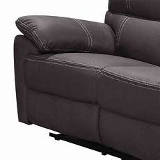 2er couch 2er couch in anthrazit microfaser mit relaxfunktion chiceria