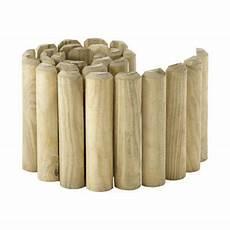 bordure demi rondin bois stelmet 200 x h 30 cm castorama