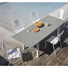 Table De Jardin Extensible 6 10 Personnes En Aluminium Et