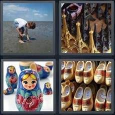 4 Pics 1 Word Answer For Eiffel Tower Doll Clogs
