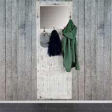 garderobe vintage weiss garderobe wandgarderobe mit spiegel wandhaken 180x65x7cm