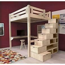 lit mezzanine adulte solide abc meubles lit mezzanine alpage bois escalier cube