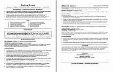 resume marketing and comunication manager marketing communications resume monster com
