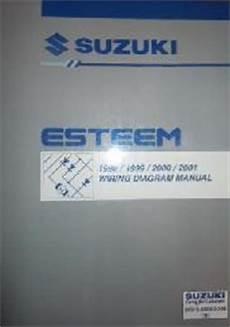 1998 suzuki esteem wiring diagrams 1998 2001 suzuki esteem factory wiring diagrams manual