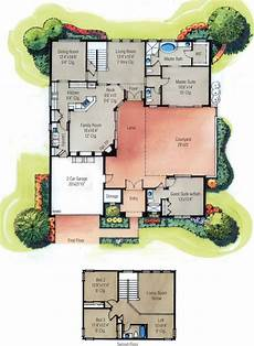 single level house plans with courtyard home plans with courtyard home designs with courtyard
