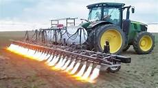 amazing modern agriculture machine tractor in action