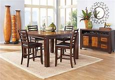 rooms to go kitchen furniture adelson chocolate brown 5 pc counter height dining room