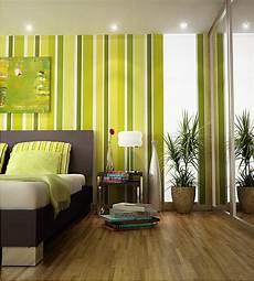 green striped bedroom wall decoist