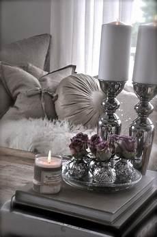 Kerzen Schlafzimmer Silbern Dekoideen Valentinstag