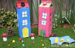 Juice Carton Houses  Milk Crafts House And The