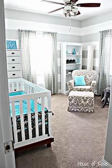 Kinderzimmer Blau Grau - nursery ideas gray and white