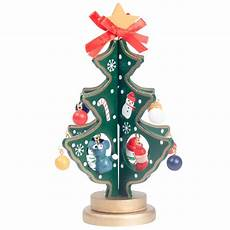 deko christbaum mit mini figuren drehbar gr 252 n