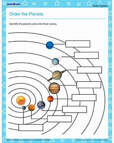 order the planets solar system worksheets for kids science pinterest solar system the
