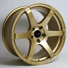 18x9 5 enkei t6s 5x100 45 gold rims fits corolla celica