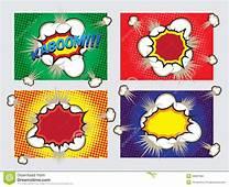 Pop Art Big Explosion Effects Design Elements Stock Vector