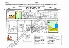 mapping worksheets for esl 11504 school map esl worksheet by martik