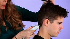 how to cut a man s hair with clippers hair cutting youtube